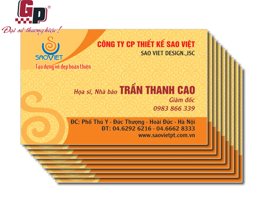 In card visit chất lượng cao
