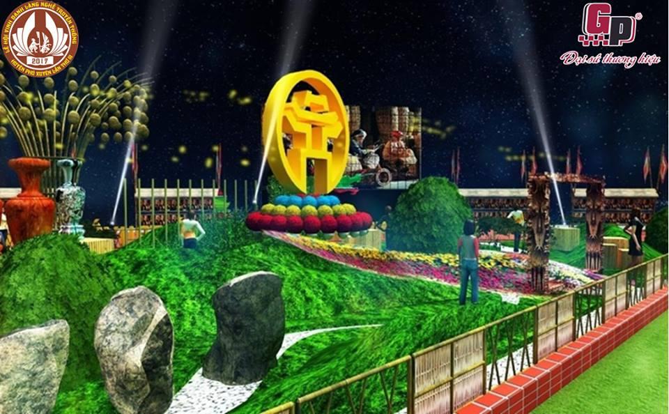 Không gian Triển lãm ảnh và Nghệ thuật sắp đặt điểm nhấn của Lễ hội vinh danh làng nghề lần thứ III  năm 2017