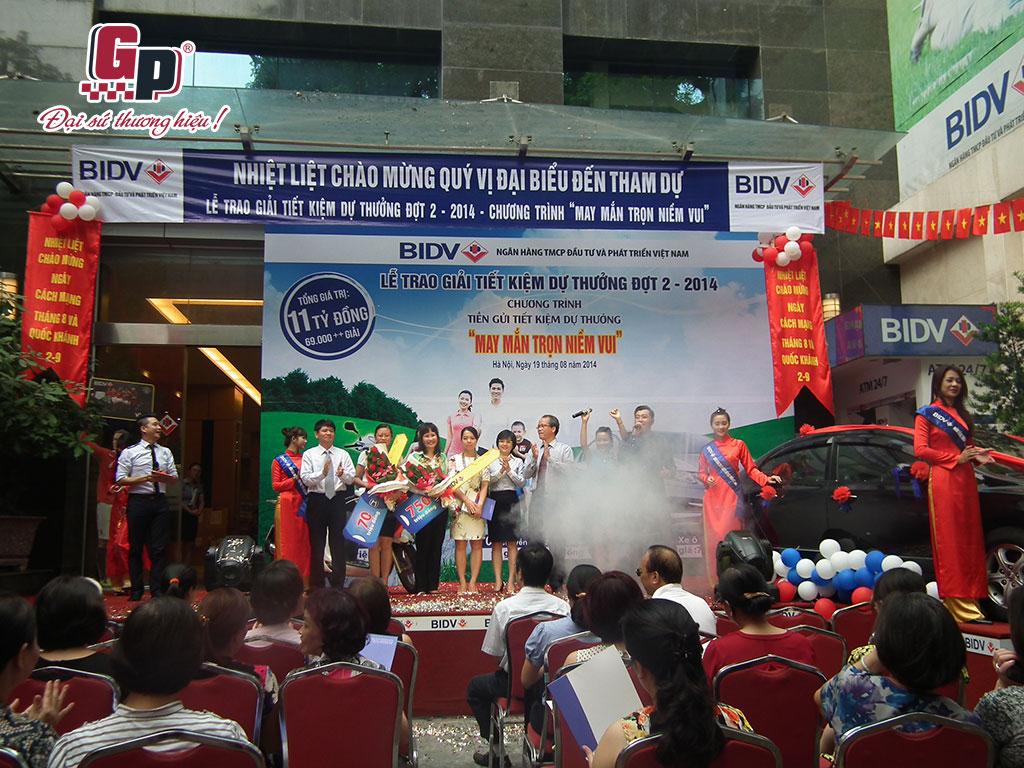 Lễ trao giải tiết kiệm dự thưởng của BIDV