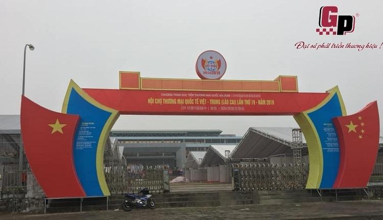 Gia Phạm gấp rút thi công Hội chợ Thương mại Quốc tế Việt - Trung (Lào Cai) 2019