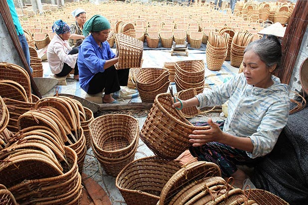 Làng nghề trở thành trung tâm kinh tế của địa phương